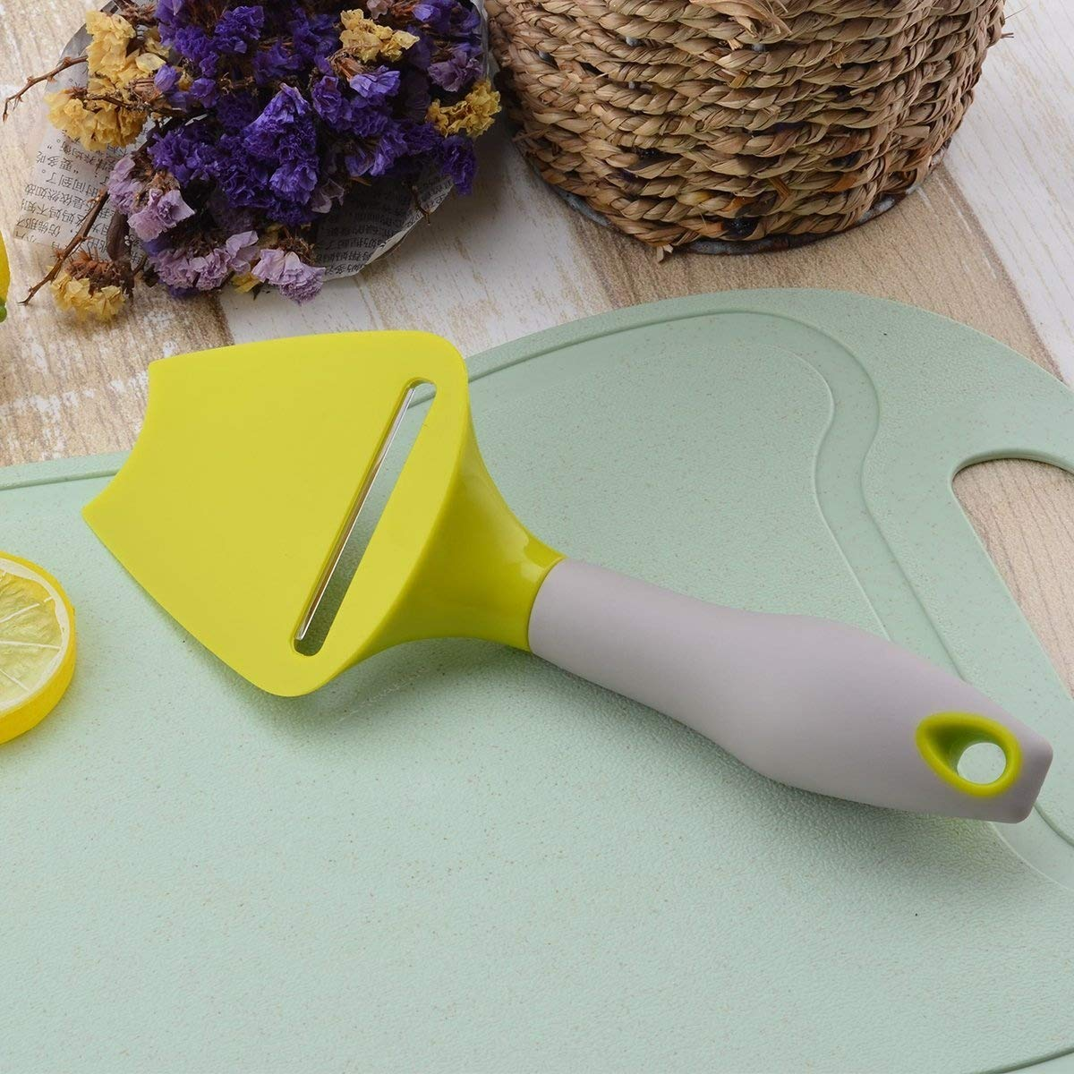 LONGLISHENG Cheese Plane Slicer with Stainless Steel Blade Cutter and Ergonomic Handle