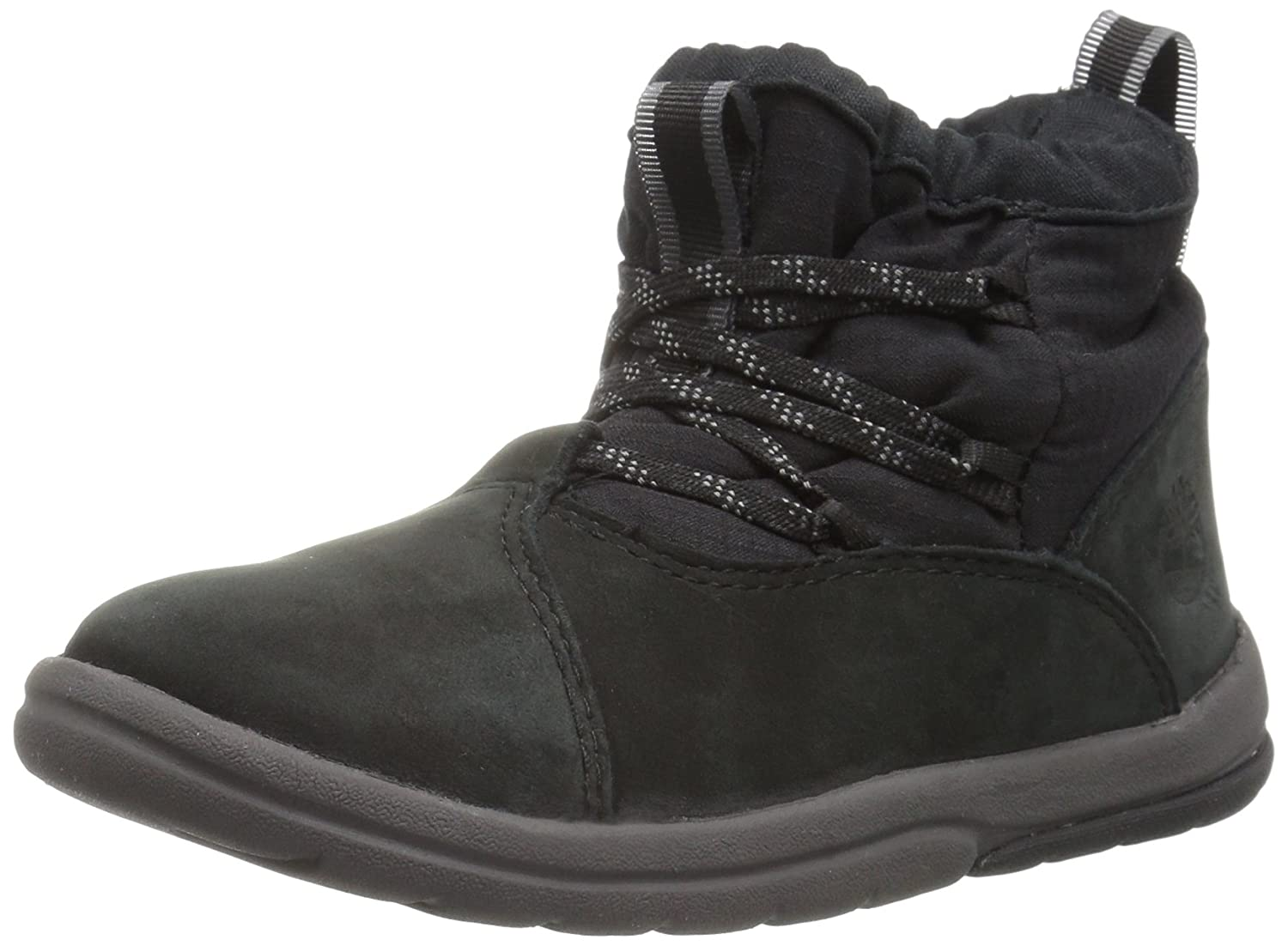 Timberland Kids Toddle Tracks Warm Fabric Leather Bootie Snow Boot
