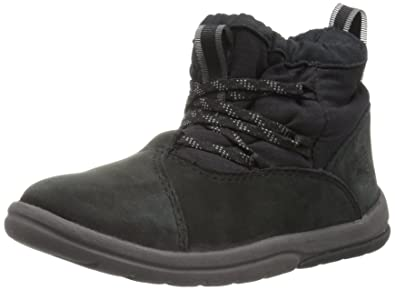 b8154984b73 Timberland Baby Toddle Tracks Warm Fabric Leather Bootie Snow Boot Black  Nubuck 4.5 M US Toddler