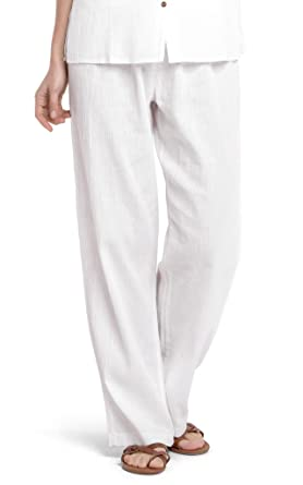 complete in specifications moderate cost favorable price White by Nature Women's Gauze Cotton Beach Pants - White ...
