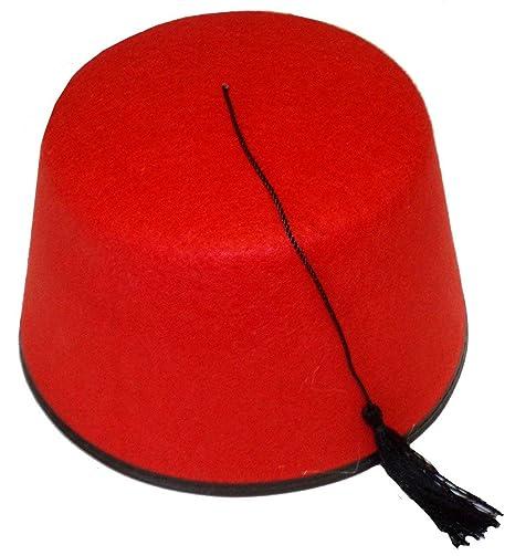 a un precio razonable más cerca de chic clásico Fieltro, color negro y rojo Who Doctor Fez Sombrero Shriner ...