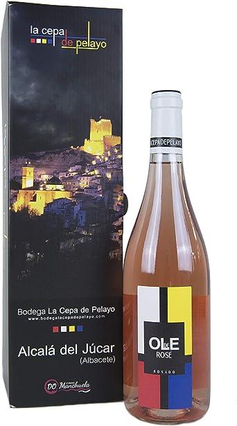 Estuche 1 botella OLE DE ROSE- Vino Rosado Bobal 75cl- Añada 2017 D.O.Manchuela: Amazon.es: Alimentación y bebidas