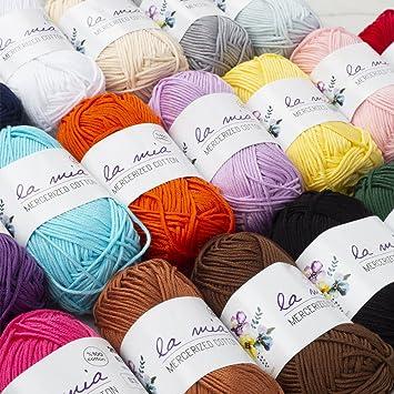 20 g red Creativ 100263 Mercerised Cotton Yarn