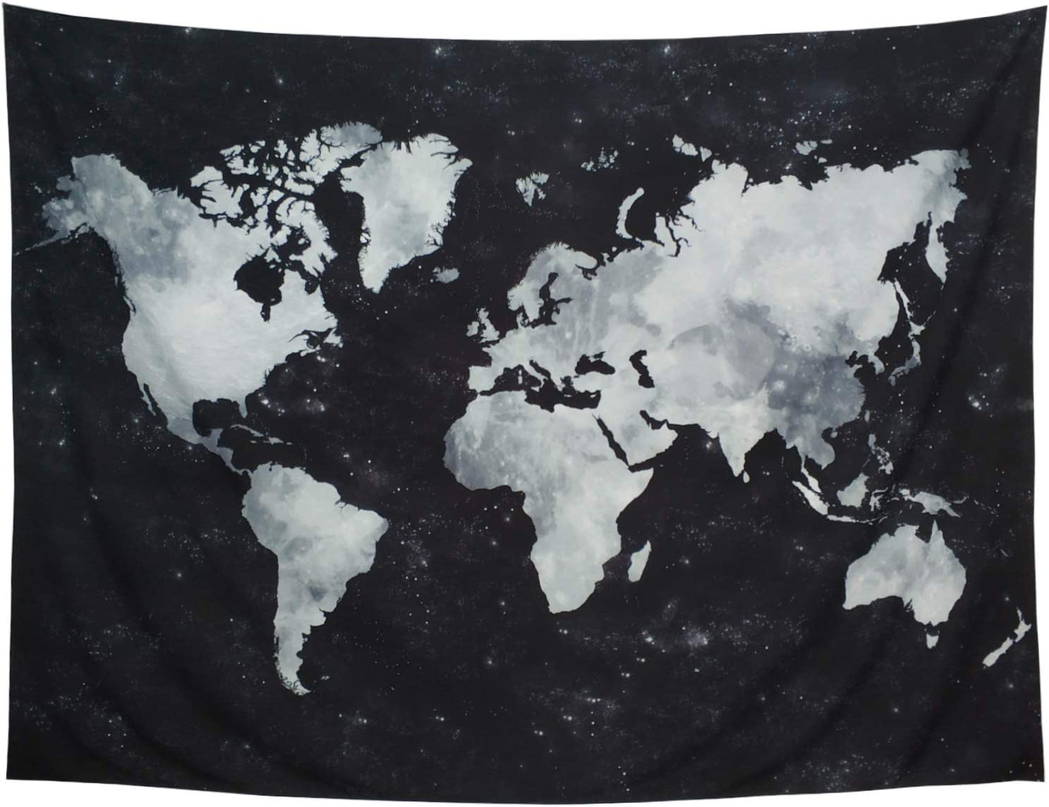 Ameyahud Starry Tapestry World Map Tapestry Apartment Essentials Black and White Tapestry Globe Constellation Galaxy Tapestry for Guys Dorm Posters (XL/70.8