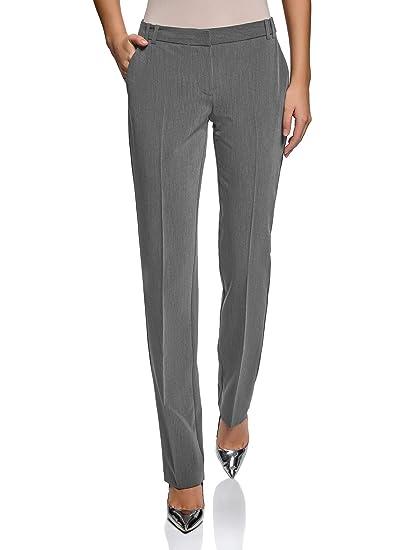 45c6fc176b5 oodji Collection Femme Pantalon Classique à Plis Marqués  Amazon.fr ...