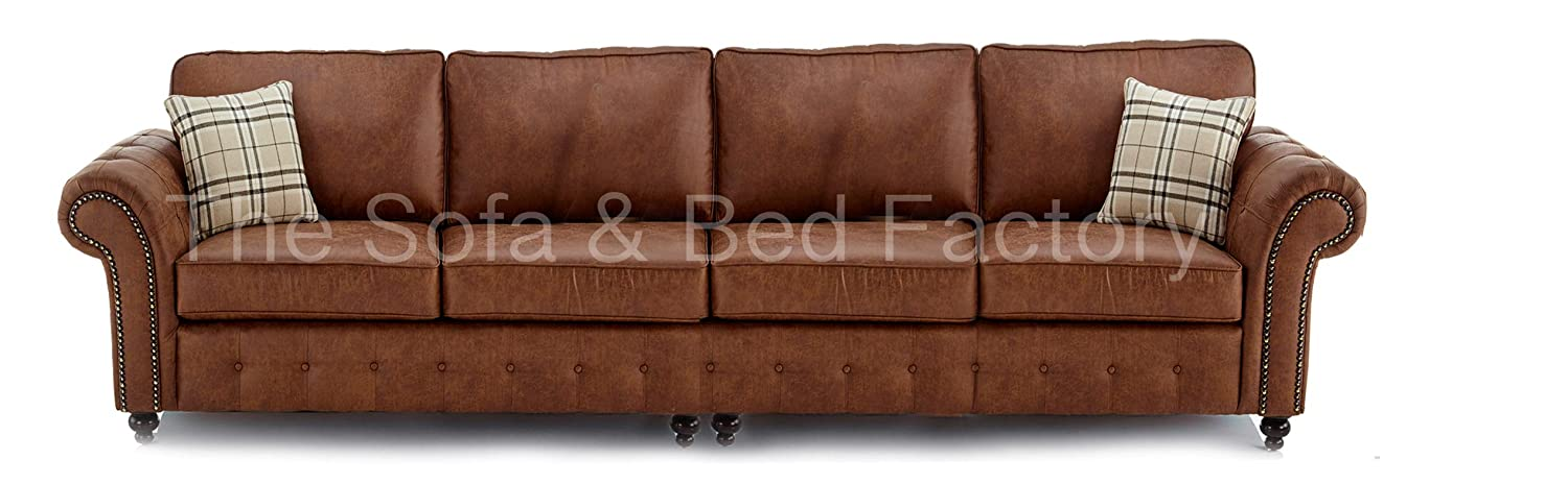 Miraculous Oakridge Large Tan Leather 4 Seater Sofa Bespoke Tan Brown Uwap Interior Chair Design Uwaporg