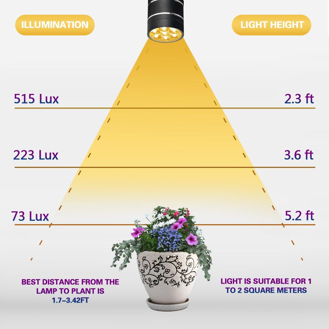 Watt Grow Light Distance From Plants Light Bulb Plant