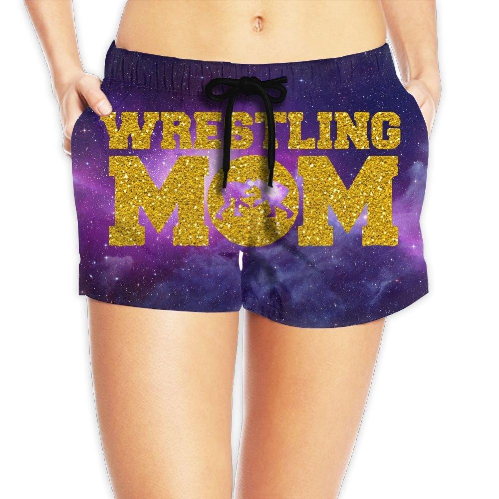 Junsung Wrestling Mom Glitter Hot Summer Beach Womens Hot Shorts by Junsung