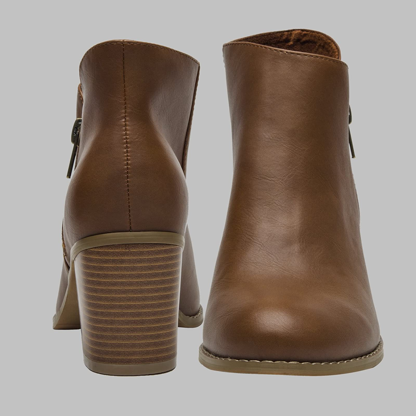 Luoika Plus Size Wide Width Ankle BootsWomen - 5