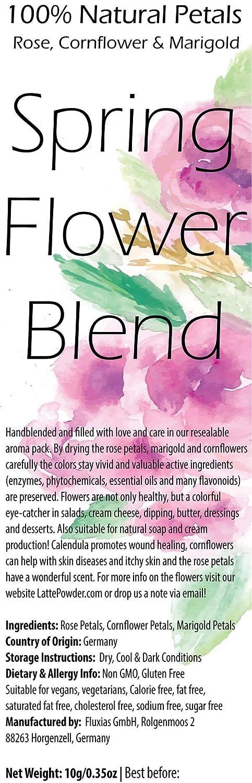 Spring Flower Blend - Mezcla comestible de rosa, cornflor y ...