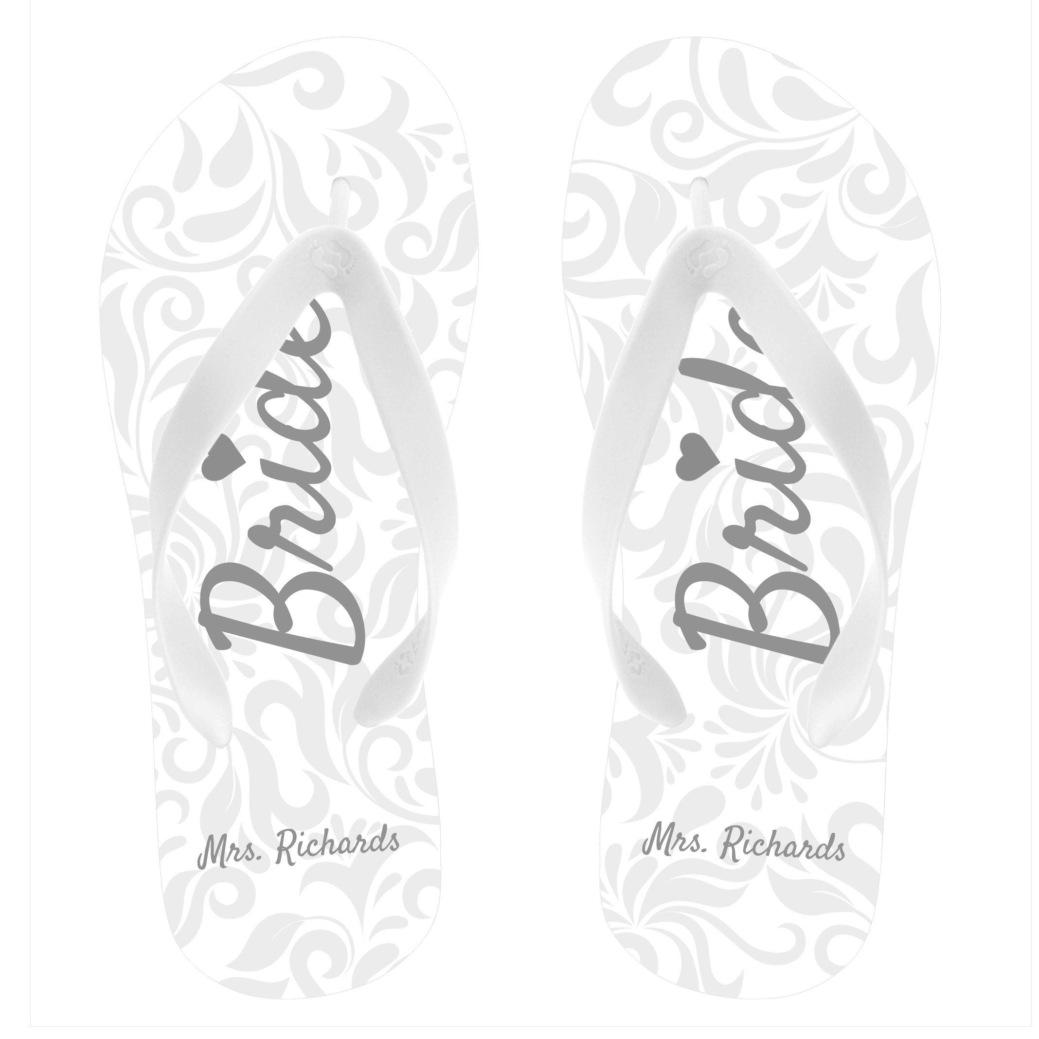 FlipSidez Personalized Bride Flip Flops