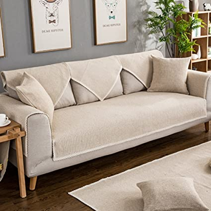 Amazon.com: SAFAJINHH Sofa Covers,Upholstered Sofa slipcover Linen ...