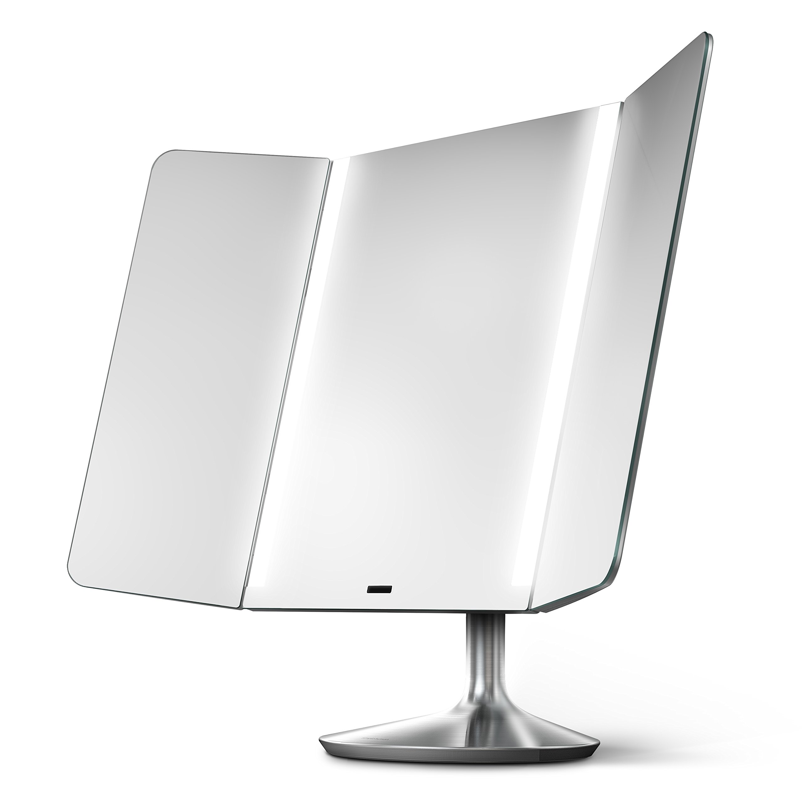 simplehuman Sensor Mirror Pro Wide View, Lighted Vanity Mirror, 1x Magnification, Adjustable Color Temperature, Wifi-Enabled by simplehuman
