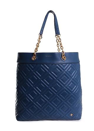 a0d0f95d26cb Amazon.com  Tory Burch Fleming Tote (Symphony Blue)  Clothing