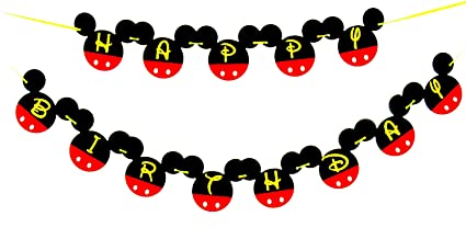 Amazoncom Mickey Mouse Birthday Banner Mickey mouse Birthday