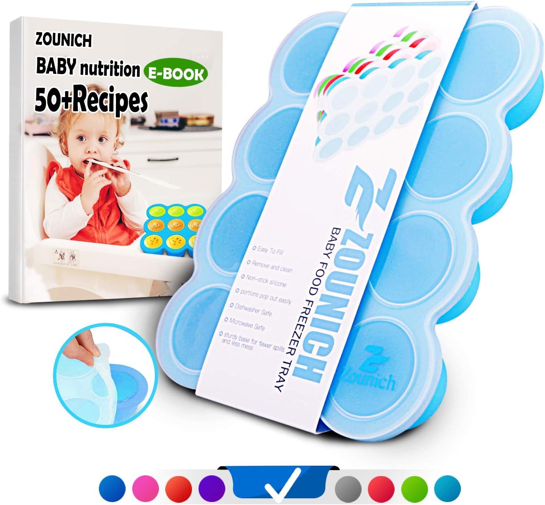 Homemust Bandeja congeladora de alimentos para beb/és de silicona con palos moldes para helados de helado DIY