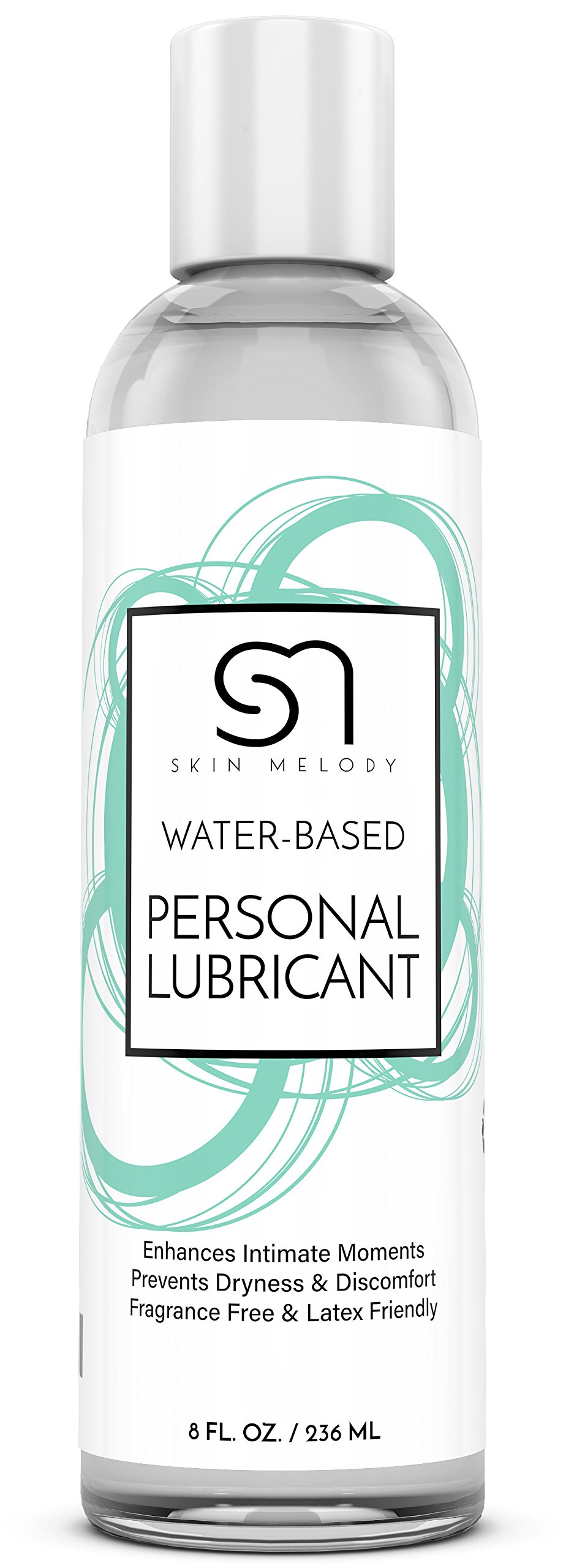 Personal Lubricant for Men & Women + Couples - Water Based Lube for Intimate Sensual Moments - Lubes Skin & Body for Silky Stimulation - Compatible with Silicone Toys & Great for Sensitive Skin - 8 OZ