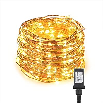 CYLAPEX Fairy Lights Plug in Led String Lights 66ft with 200 LEDs, Waterproof Indoor & Outdoor Decorative Lights for Homes Wedding Party Bedroom Wall Decoration, UL588 Approved (Warm White) : Garden & Outdoor
