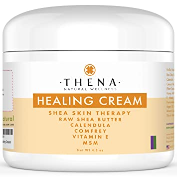 Healing Cream for Eczema Psoriasis, Organic Natural Moisturizer Lotion for  Face Body