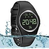 feifuns Smart Watch Non-Bluetooth Kid Pedometer Watch Sport Wristband IP68 Water-Resistant Swim Watch Fitness Tracker with Step/Distance/Calorie/Clock/Timer for Walk Kid Men Women