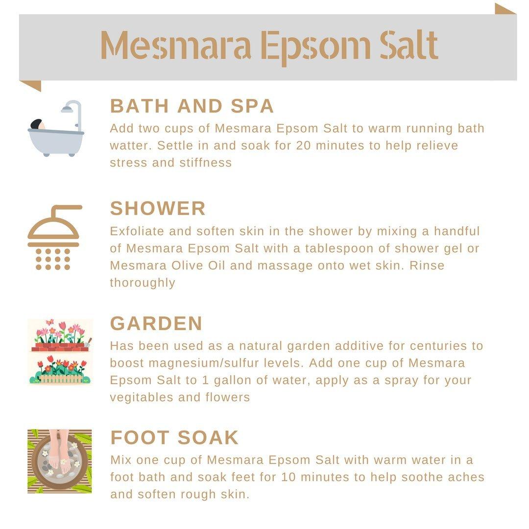 Mesmara Epsom Salt, 800g