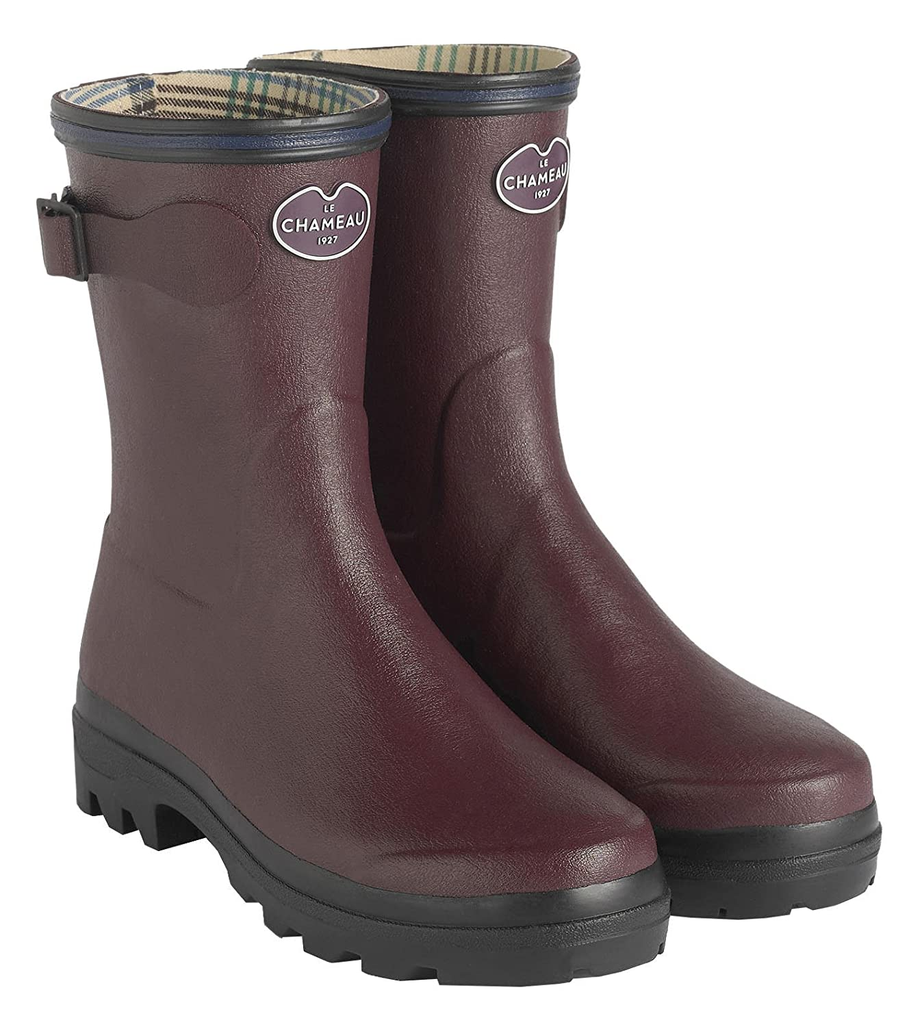 Parent LE CHAMEAU 1927 Womens Giverny Jersey Lined Low Boot 4579 Cherry 1974-4579/_Cherry