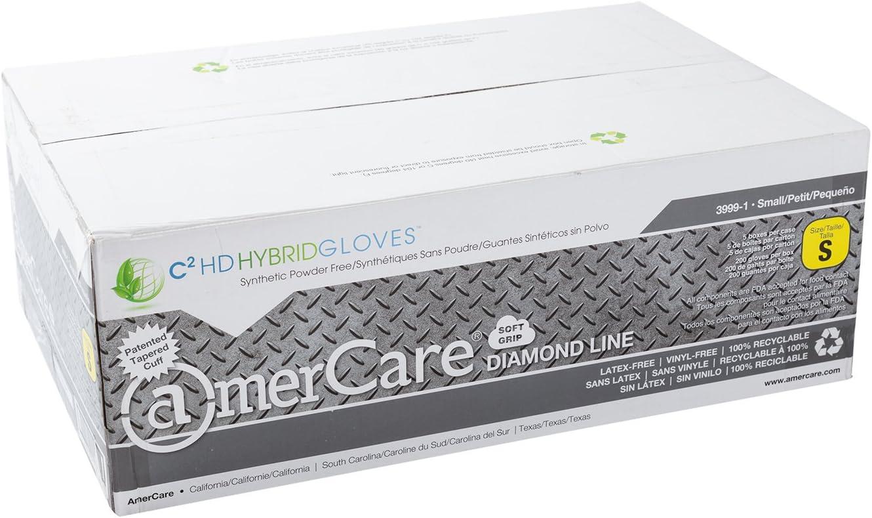 AmerCare Medium Powder-Free Hybrid C2 HD Hybrid Gloves Case of 1000
