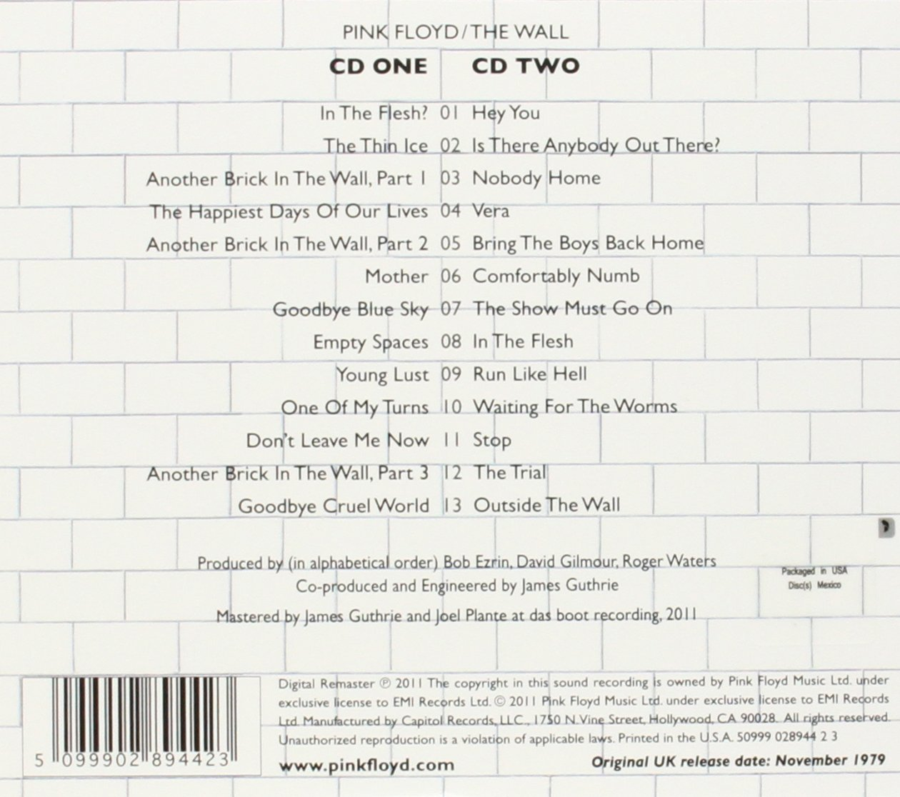 Wall: Pink Floyd: Amazon.es: Música
