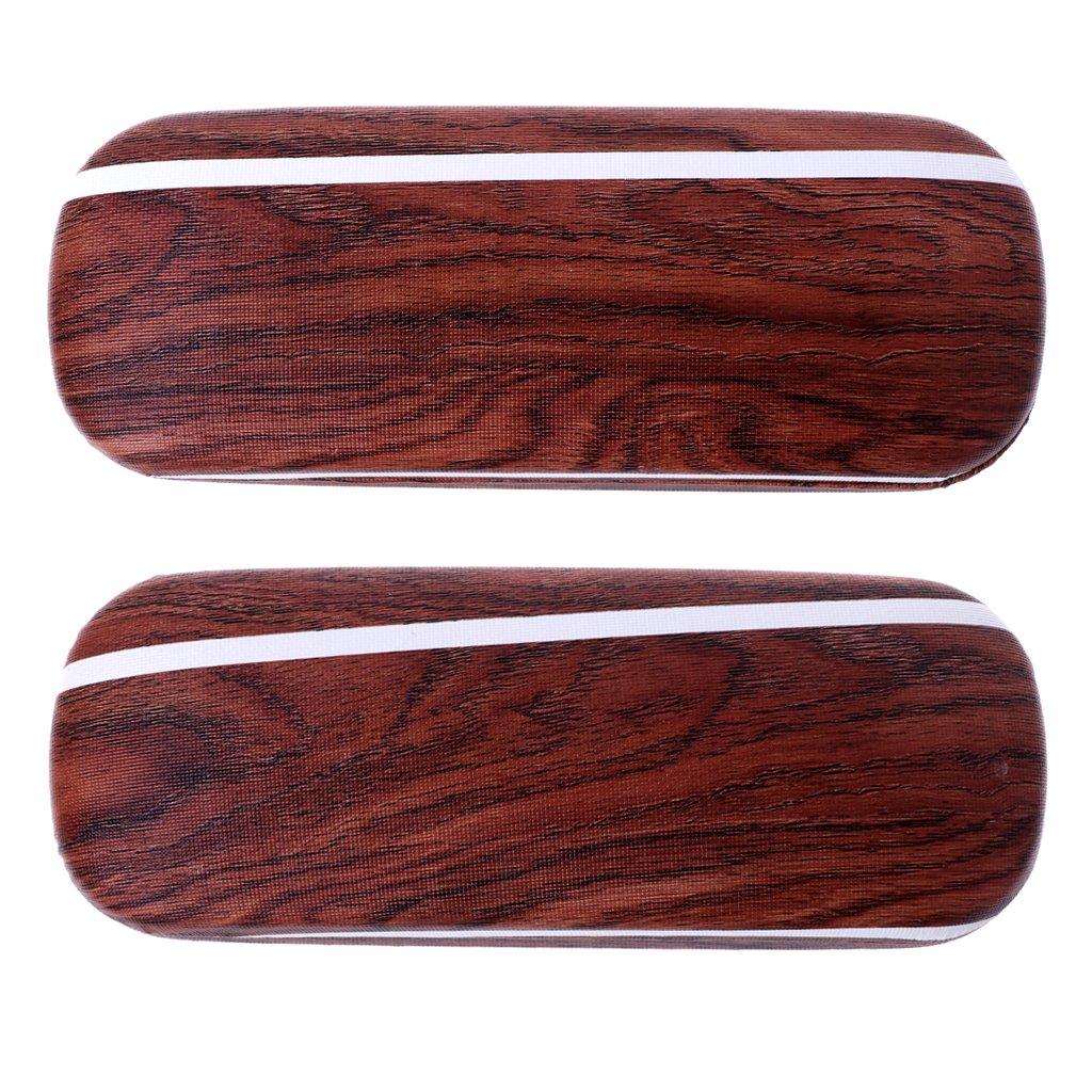 Wood Grain Hard Eyewear Box Sunglasses Protector Bag SKYlive Glasses Cases