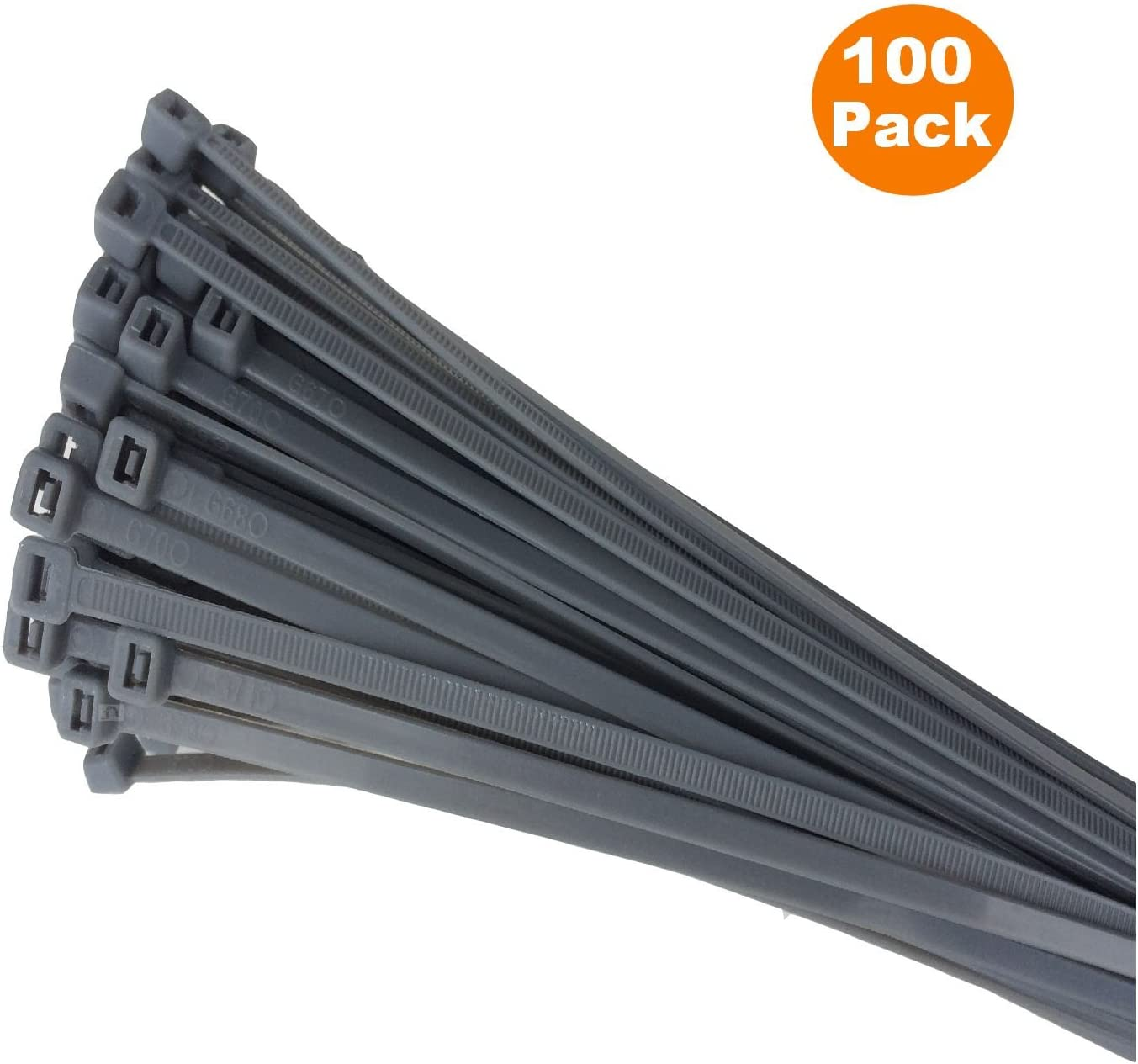 HIGH QUALITY Strong Nylon Coloured Plastic Zip Tie Wrap 100 BLACK CABLE TIES