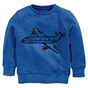 Fiream Boys' Crewneck Cotton Long Sleeve Hoodie Sweatershirt(2837TZ,2T)