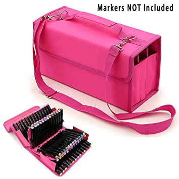 BTSKY Handy 80 Slot Carrying Lipstick Organizer Marker Case Holder for  Copic Prismacolor Touch Spectrum Noir