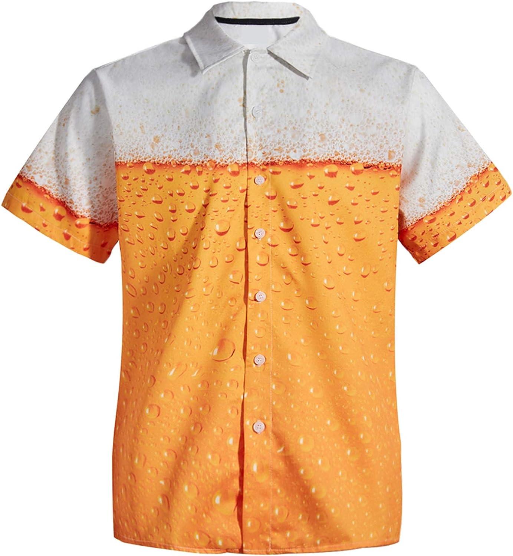 Mens Short Sleeve Hawaiian Shirt Summer Style Plam Tree Men Casual Beach Hawaii Shirts Fit Slim Male Blouse Summer Top