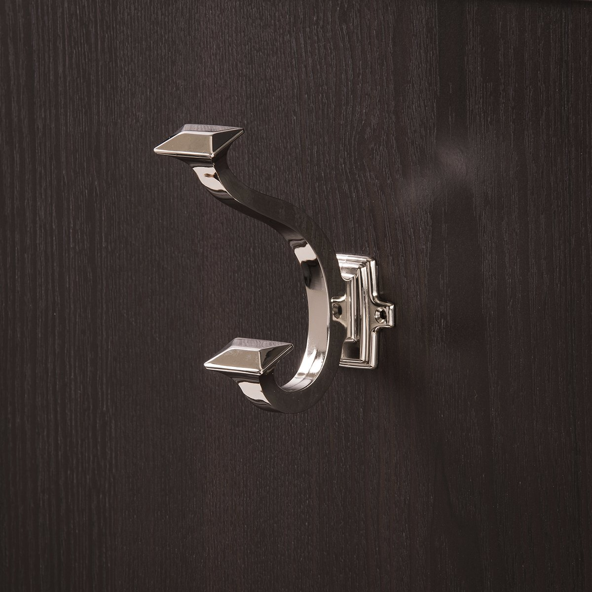 Hickory Hardware P2155-RB Double Coat Hook 0.875-Inch Refined Bronze