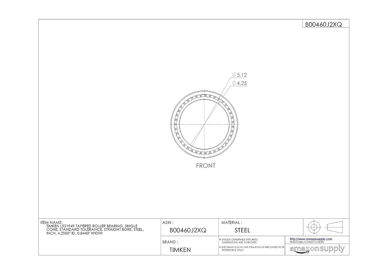 Stahl Pr/äzisions Toleranz 27,9/cm ID Zoll 2,4/cm Breite gerade Bohrung Single Membran timken ll352149/# 3/Kegelrollenlager