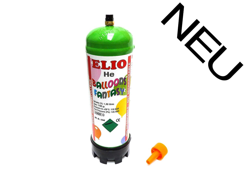 1 Stück 'Elio' Helium-Einweg-Kartusche / Luftballongas UN1046