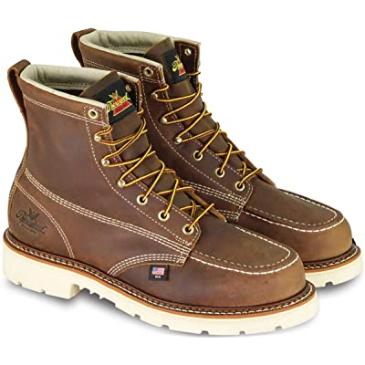 """Thorogood Men's American Heritage 6"""" Moc Toe, MAXWear 90 Safety Toe Boot 