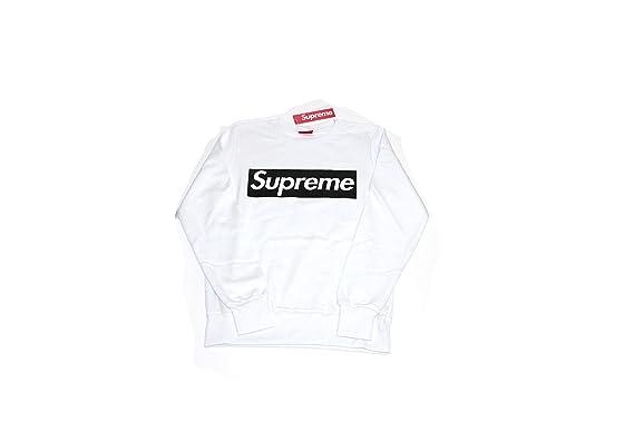 Supreme - Sudadera con capucha - para hombre blanco Bianco: Amazon.es: Ropa y accesorios