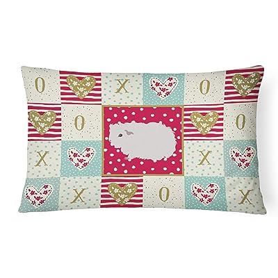 Caroline's Treasures CK5430PW1216 Merino Guinea Pig Love Canvas Fabric Decorative Pillow, 12H x16W, Multicolor : Garden & Outdoor
