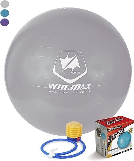 Winmax – 75 cm pelota de Yoga pelota y equilibrio pelota con bomba ...