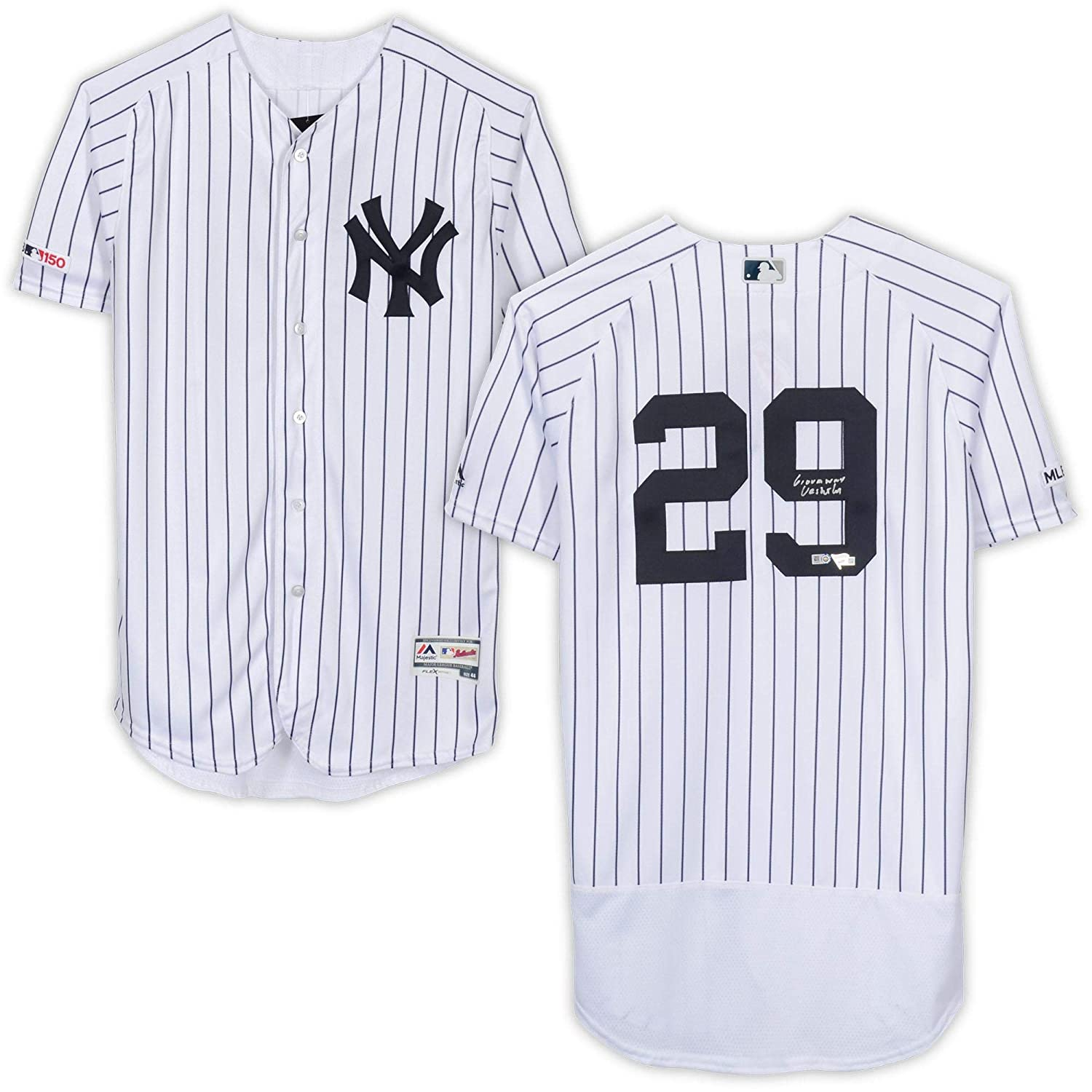reputable site 0a9ac 7d574 Gio Urshela New York Yankees Autographed White Majestic ...