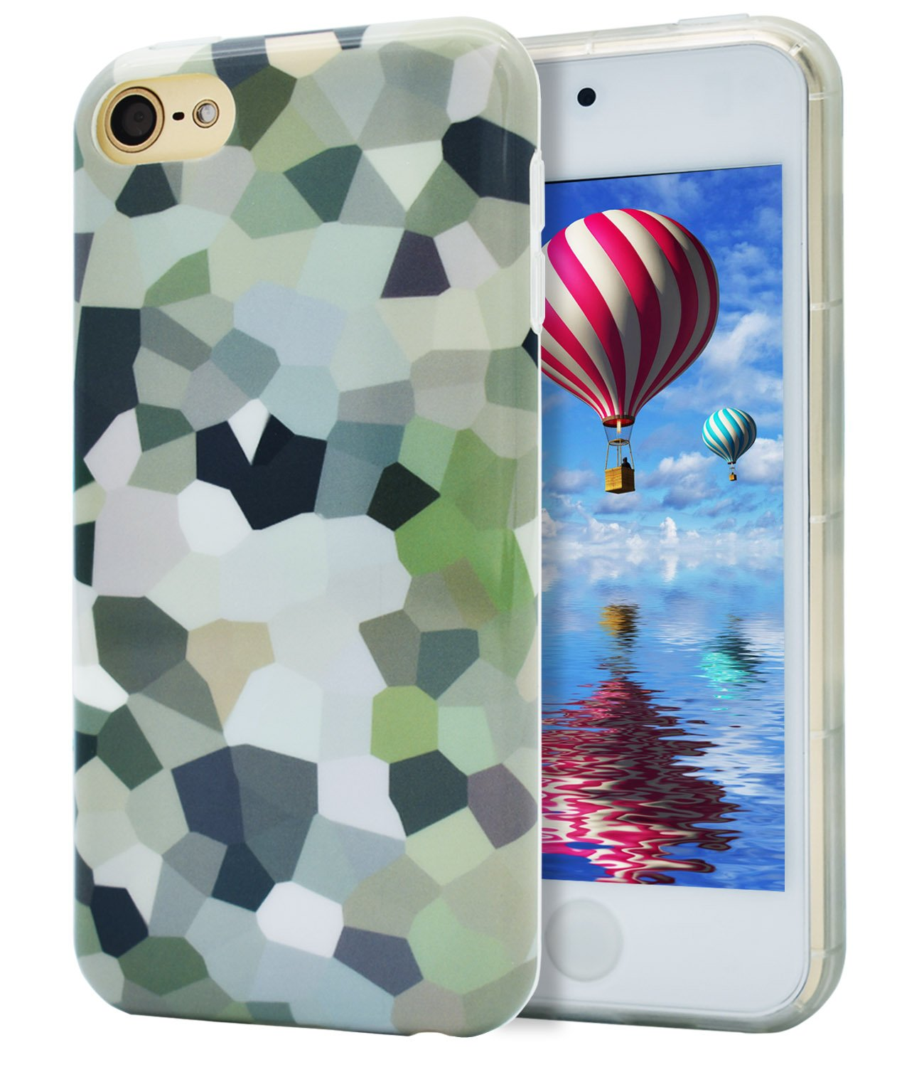 iPod Touch 6 Case, iPod Touch 5 Case, Dailylux Hard PC + Soft TPU Edge Protection Ultra thin Shockproof Cover with Air Cushion Technology Cover for iPod Touch 5th/6th Generation-Clear