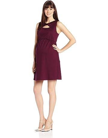 c0505542f Maternal America Women's Maternity Bow Shift Dress