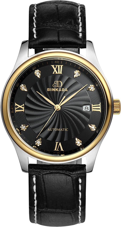 BINKADA Men's Automatic Mechanical Business Casual Waterproof Watch for Mens Watches