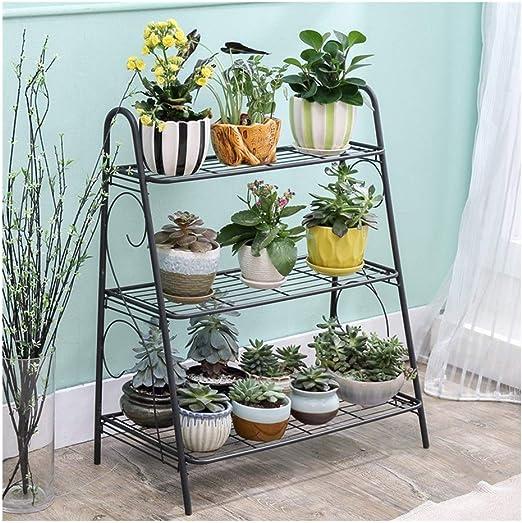 AF ES Estantes de exhibición de Soporte de Plantas de Varias Capas con estanterías de jardín Decoración de balcón Soporte de Flores Adecuado for balcón de Sala de Estar: Amazon.es: Hogar