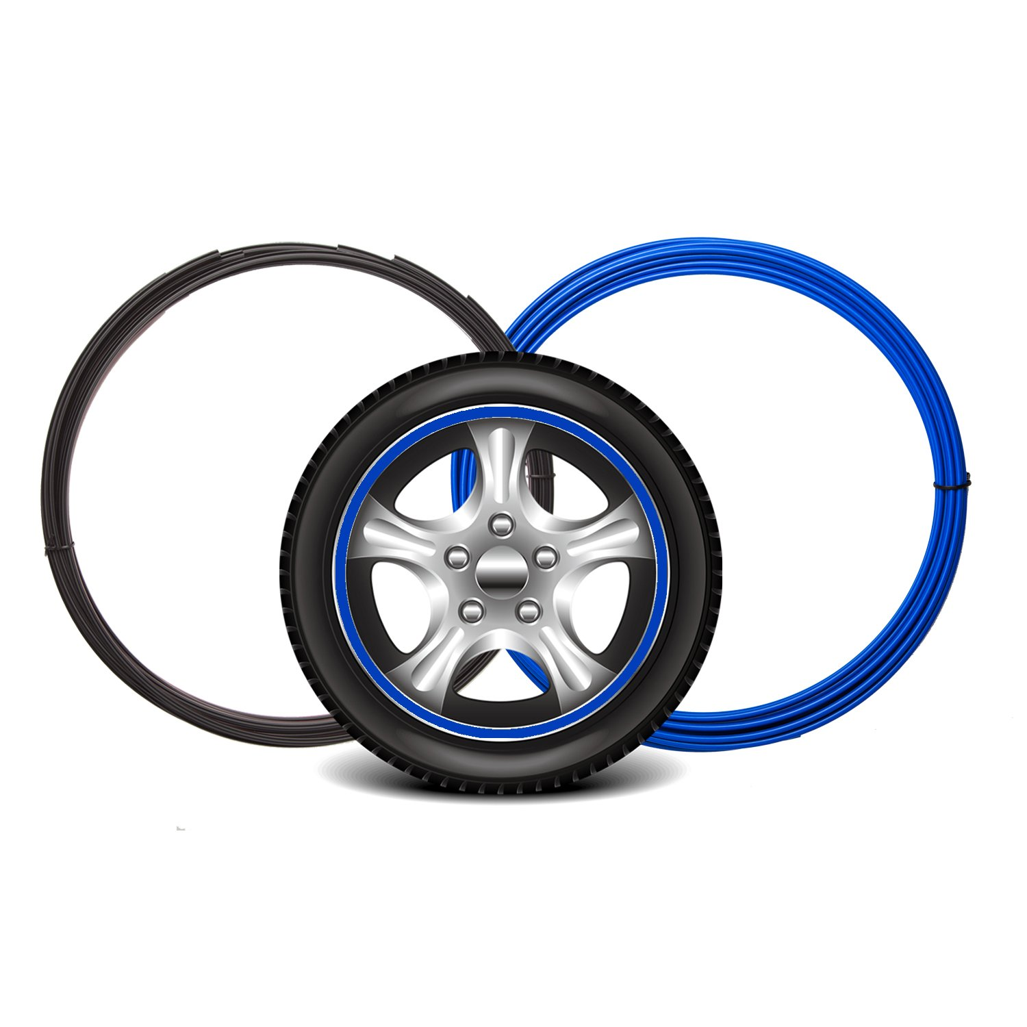 Maidian Wheel Hub Decorative Protection Ring Wheel Hub Stripe Automobile Decoration Scratch Prevention (2M/Item×4piece 8M by Maidian
