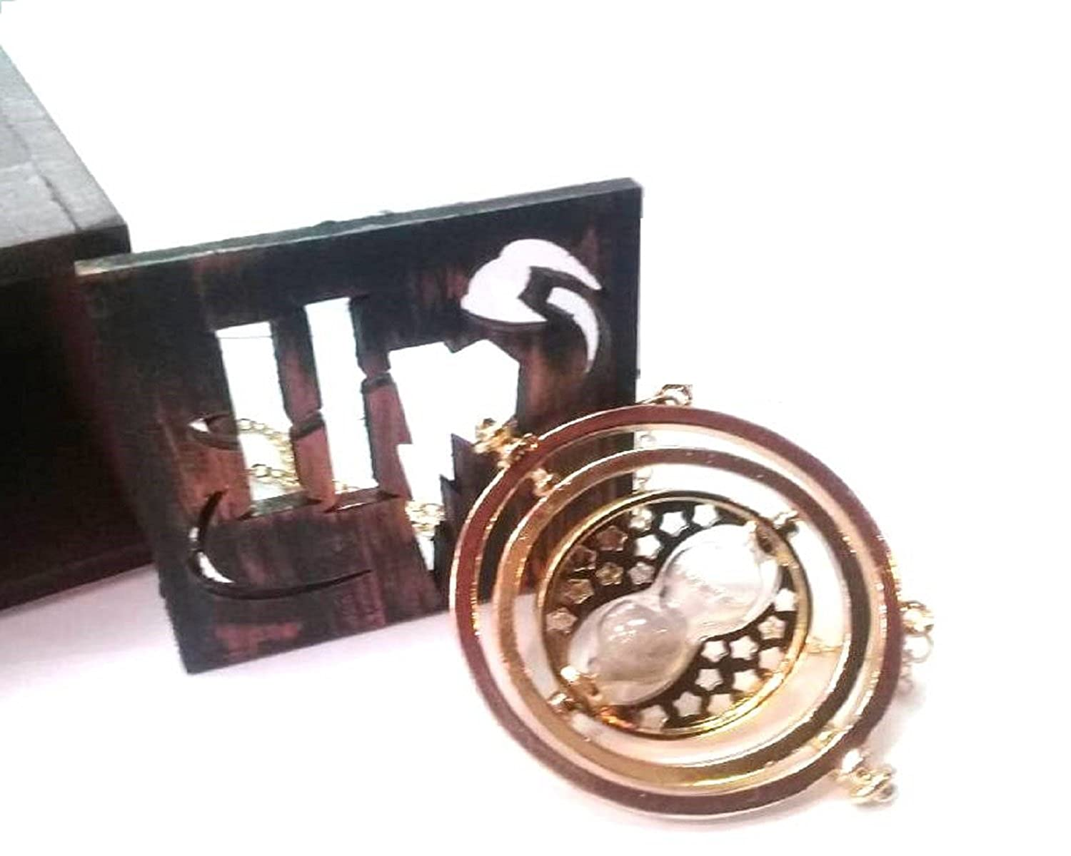 GSC Moda Harry Potter - Hermione 's Time Turner Granger Rotating Hour Glass with its wooden box