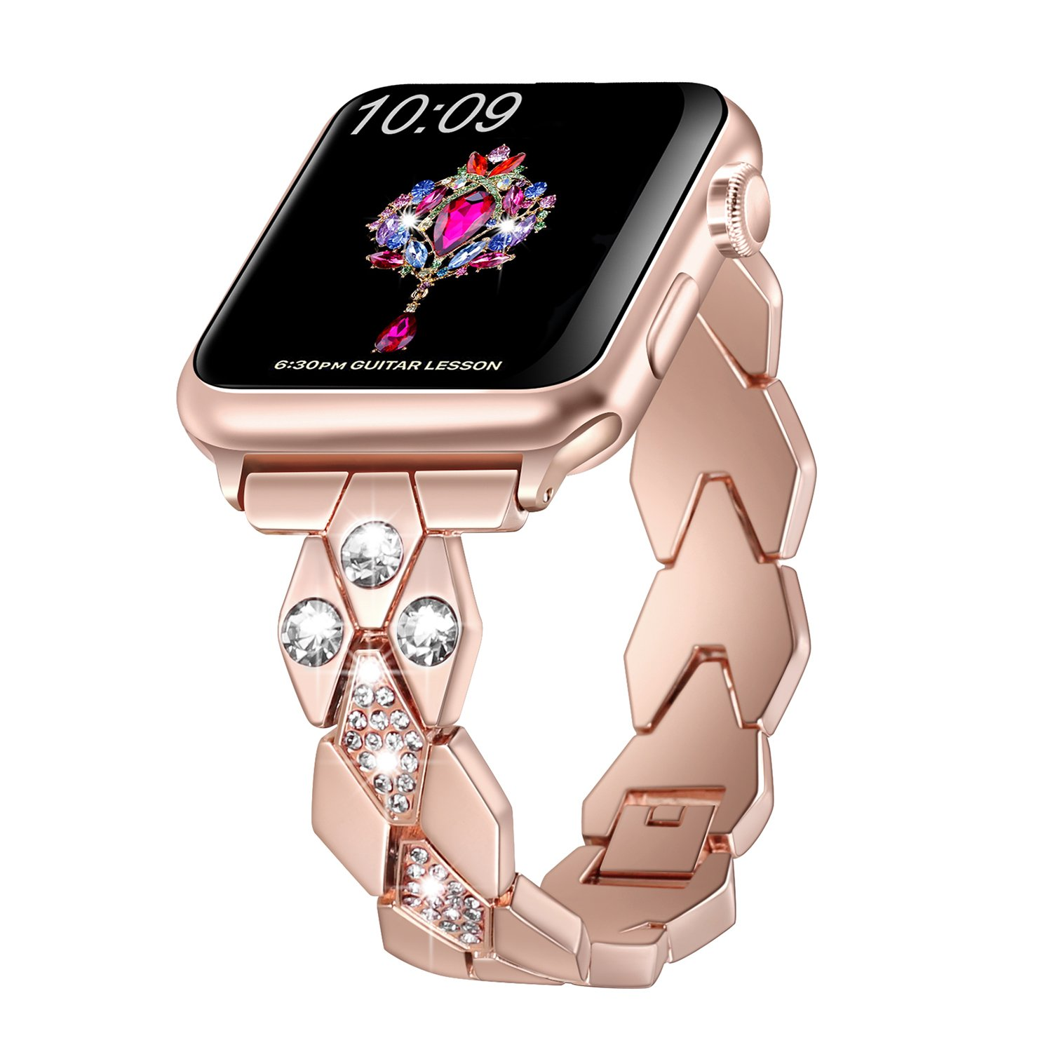 Sangaimei Replacement Wristband Compatible with Apple Watch 38mm 40mm Stainless Steel Smartwatch Bands Compatible with Apple Watch Series 4 Series 3 ...