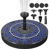 Biling Solar Bird Bath Fountain Pump, 2.5W Solar Fountain Pump with 800 mAh Battery Backup, Free Standing Solar Powered…