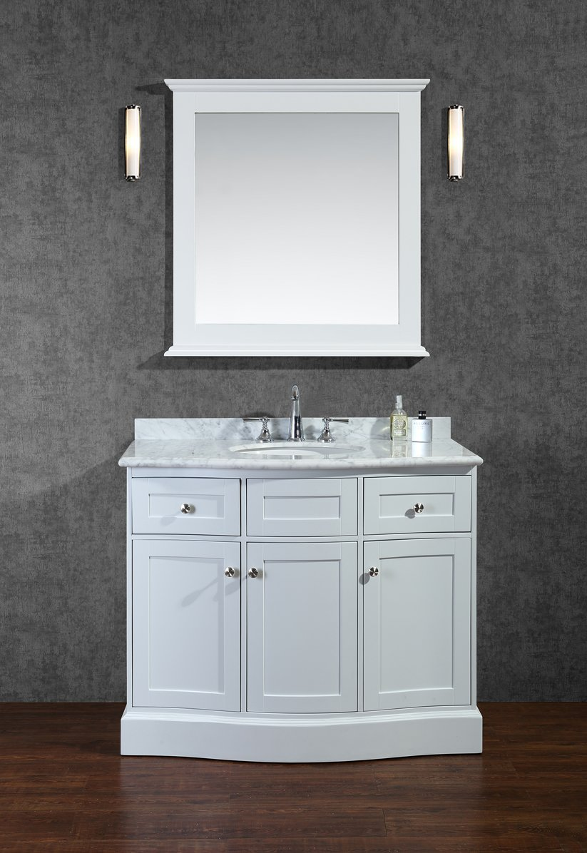 amazoncom ariel scmon42swh montauk 42 singlesink bathroom vanity set with quartz top and simple pulls in kitchen u0026 dining